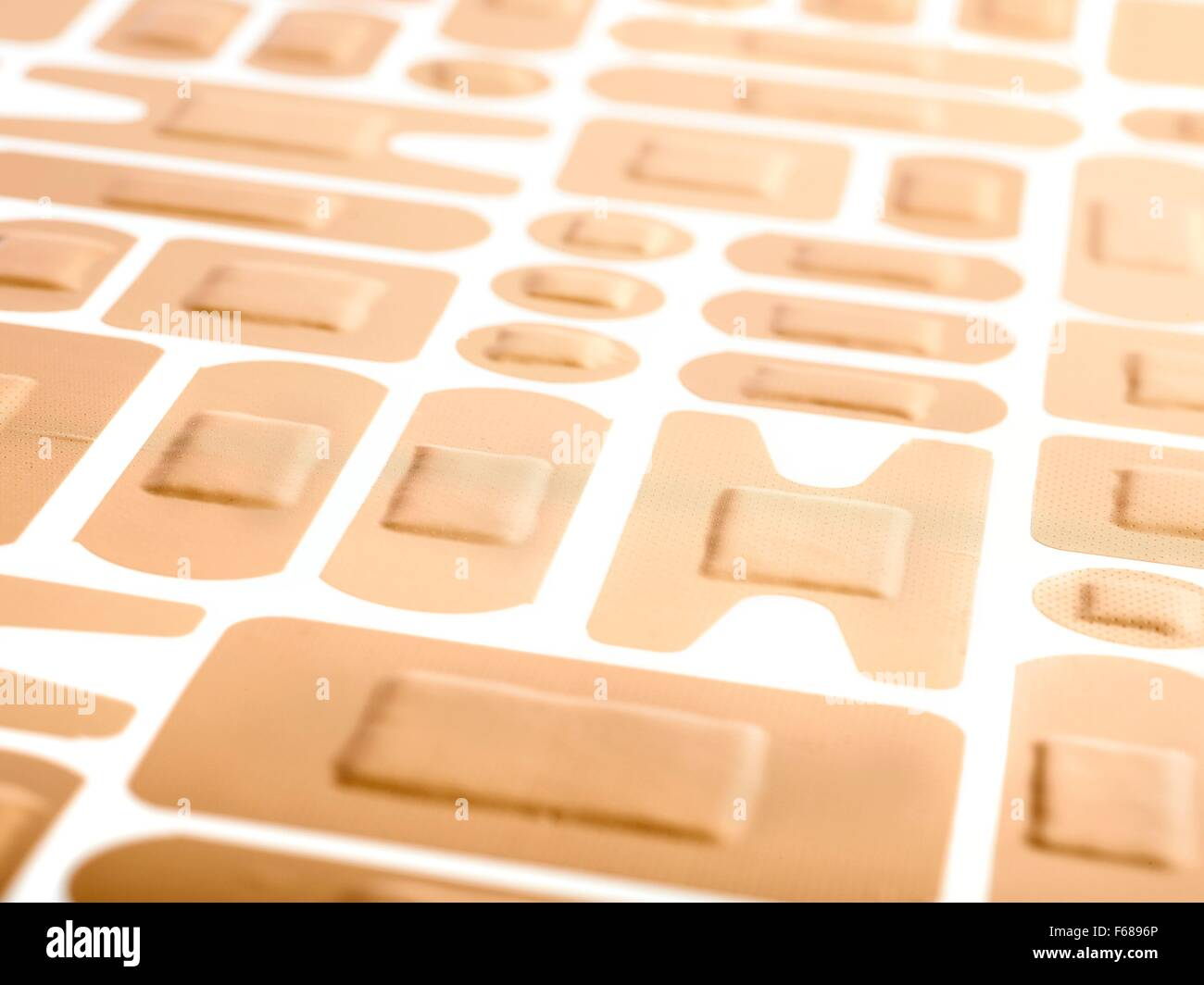 Selection of adhesive plasters. - Stock Image
