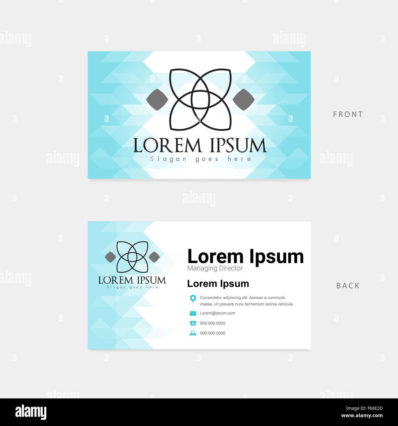 Modern template horizontal business card stock vector art modern template horizontal business card colourmoves