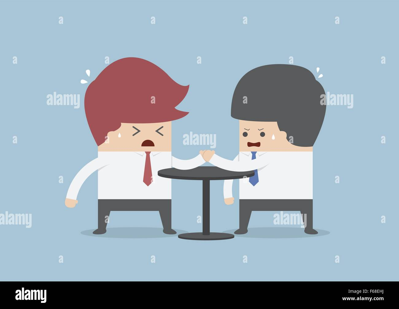 Businessmen in arm wrestling, Business competition concept, VECTOR, EPS10 - Stock Image