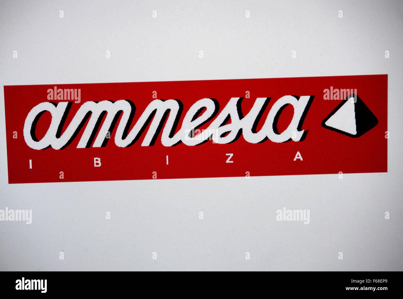 Markenname: 'Amnesia Ibiza', Berlin. - Stock Image
