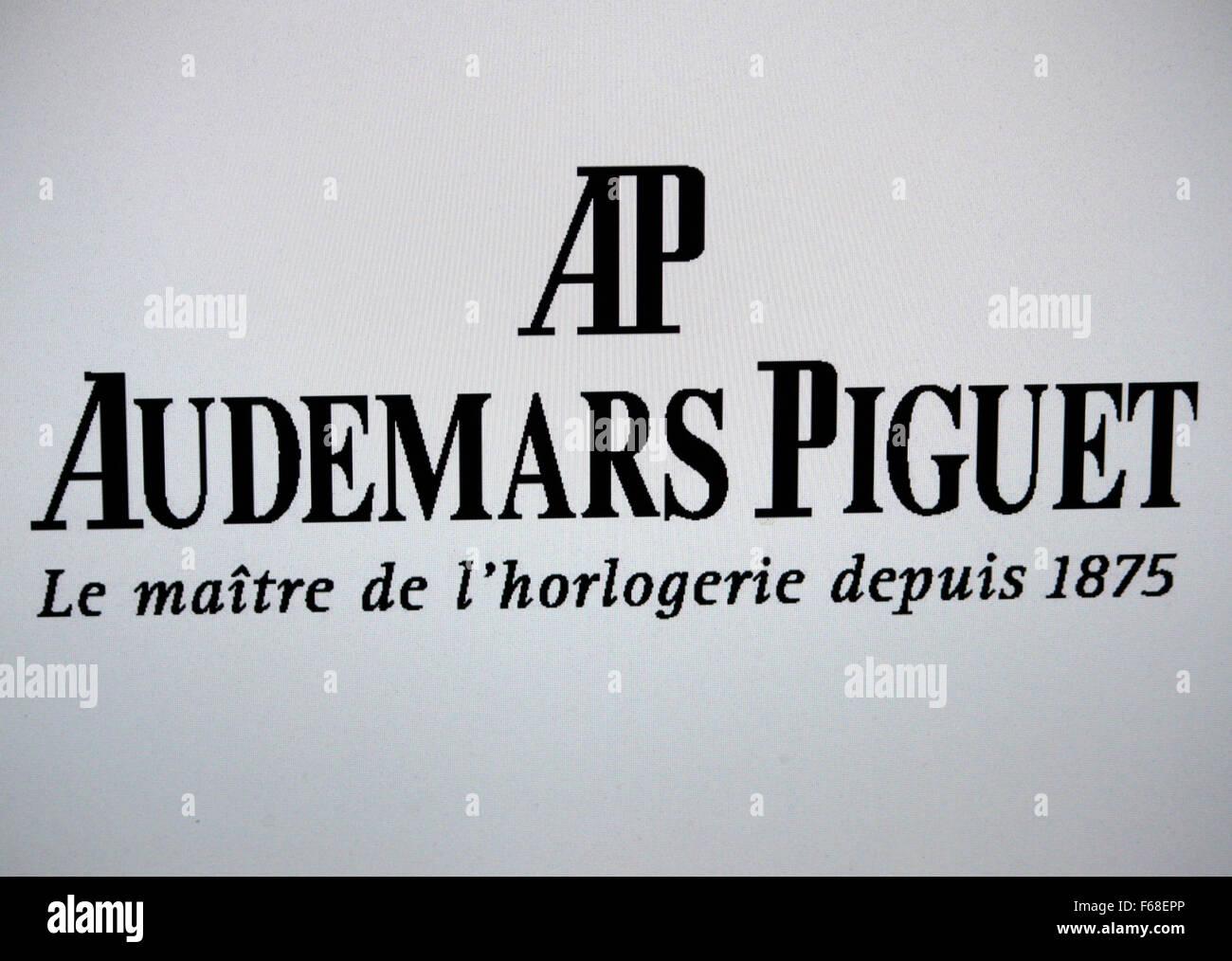 Markenname: 'AP Audemars Piguet', Berlin. - Stock Image