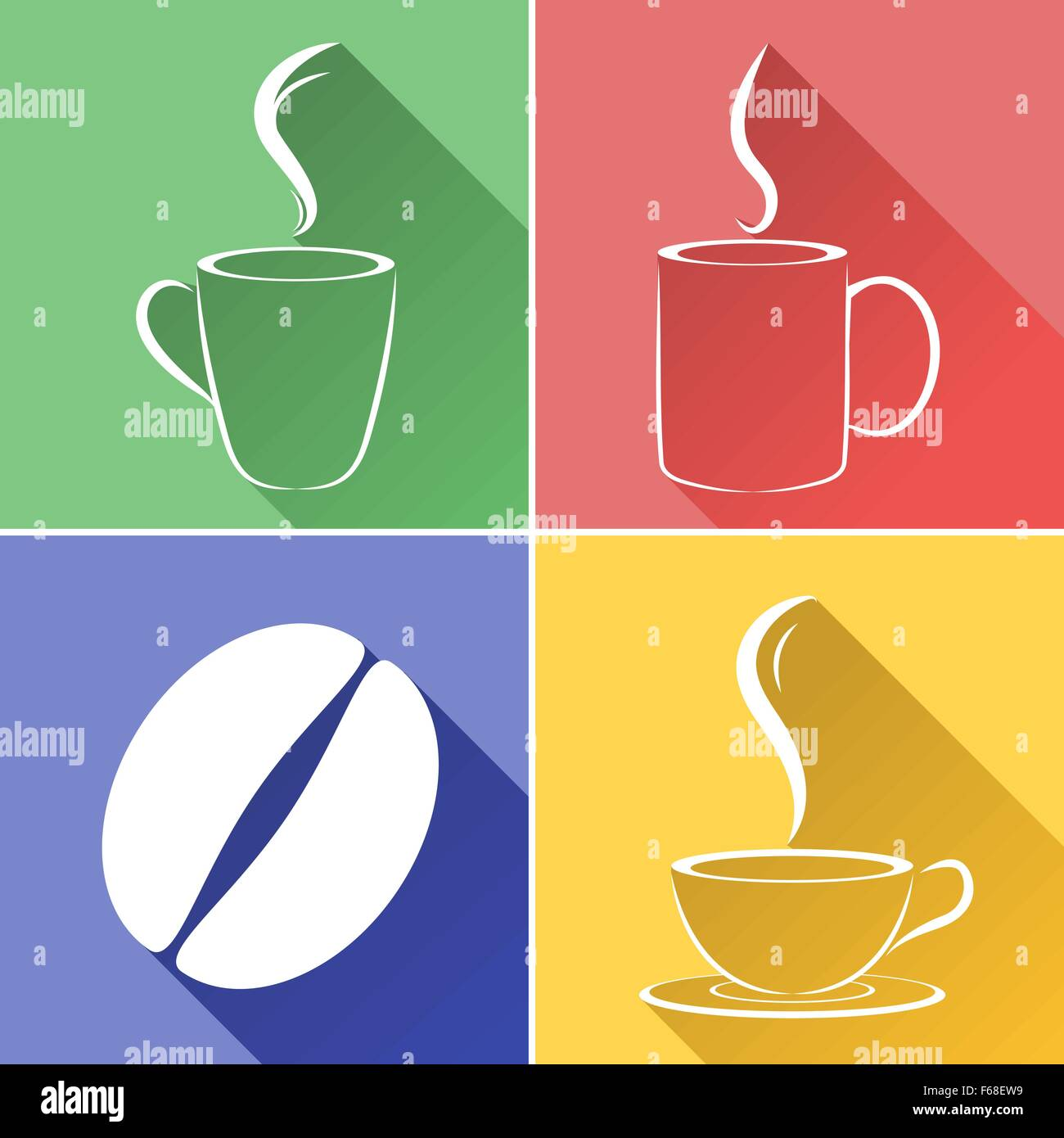 Coffee Bean And Cup Graphic Design Stock Vector Art Illustration