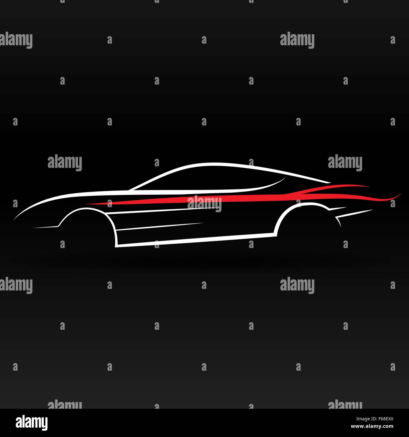 Sport Car Outline Abstract For Website And Graphic Design Stock