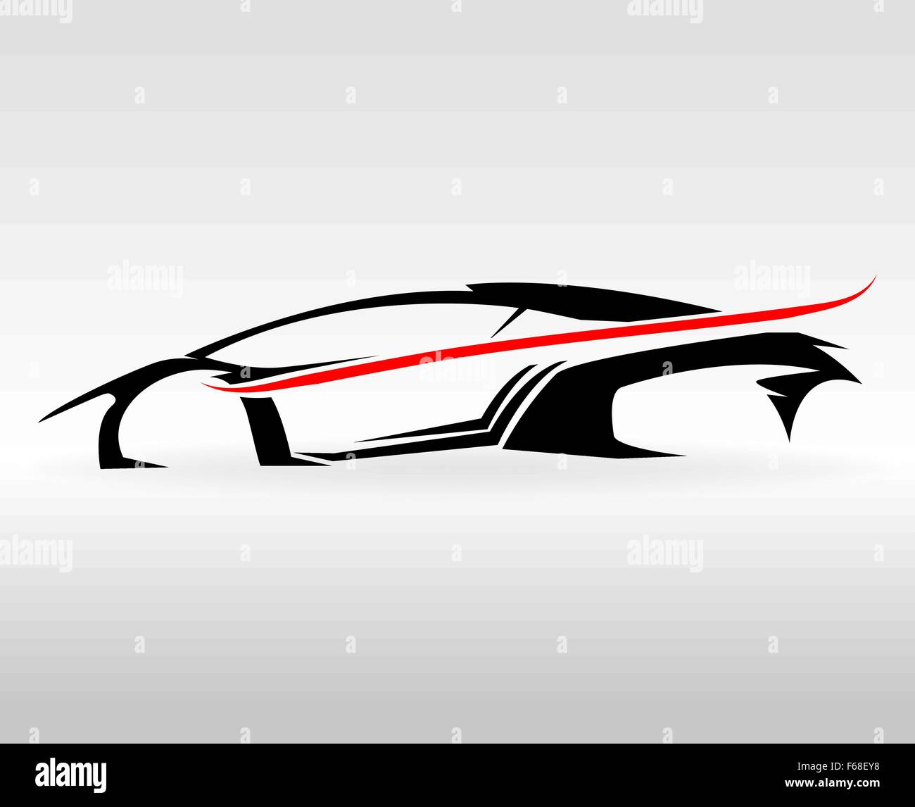 Concept Sports car Vehicle outlines graphic - Stock Image