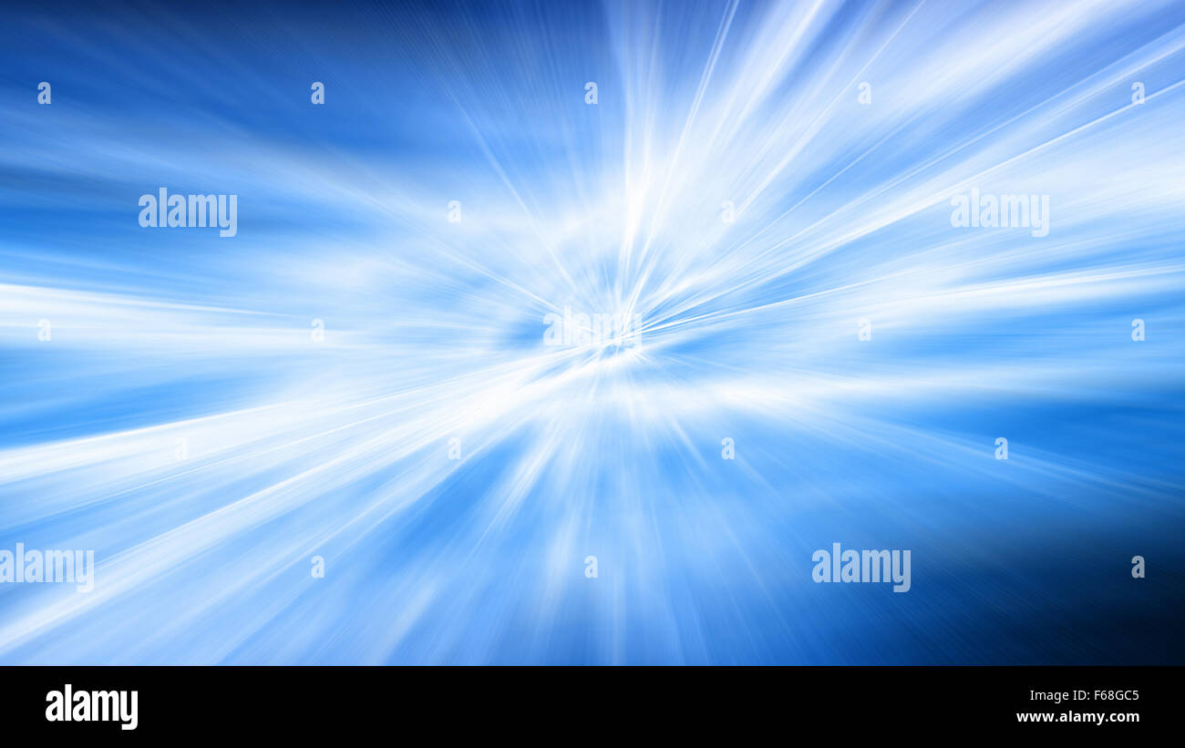 Through the ice. Movement at a high speed through icy space - Stock Image
