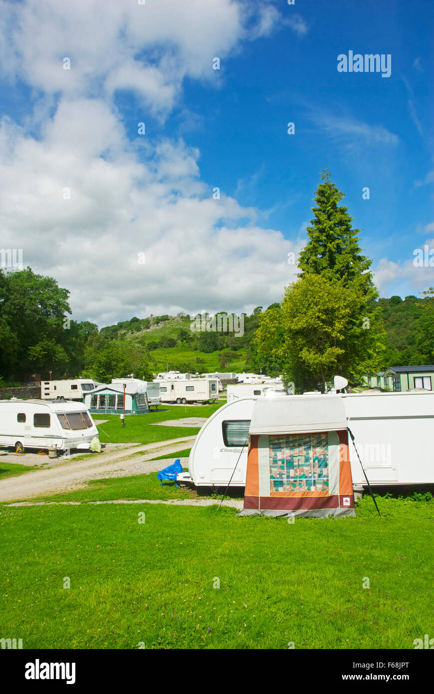 Wood Nook Campsite, Threshfield, Yorkshire Dales National Park, England UK - Stock Image