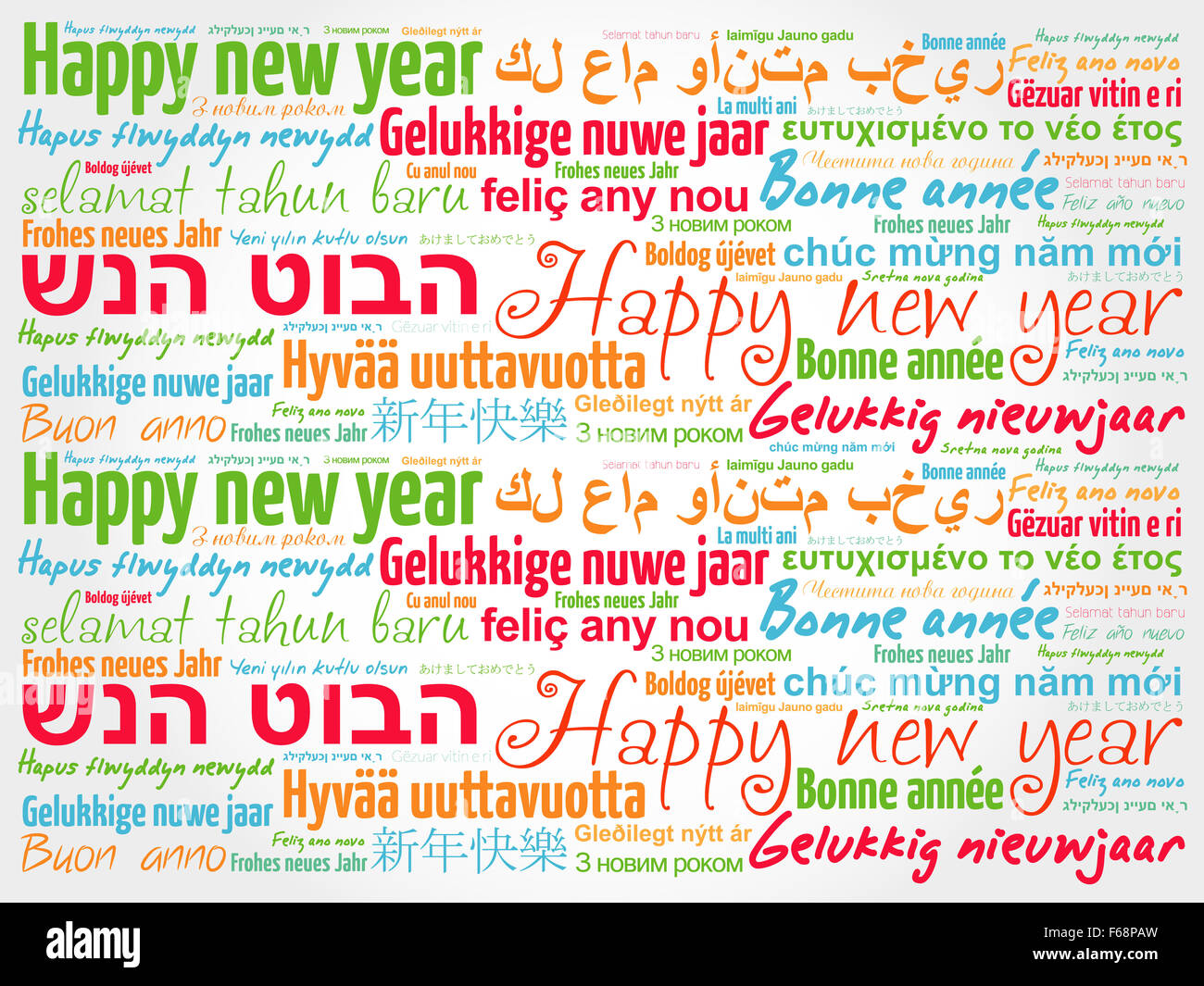 Happy new year in different languages celebration word cloud stock happy new year in different languages celebration word cloud greeting card m4hsunfo