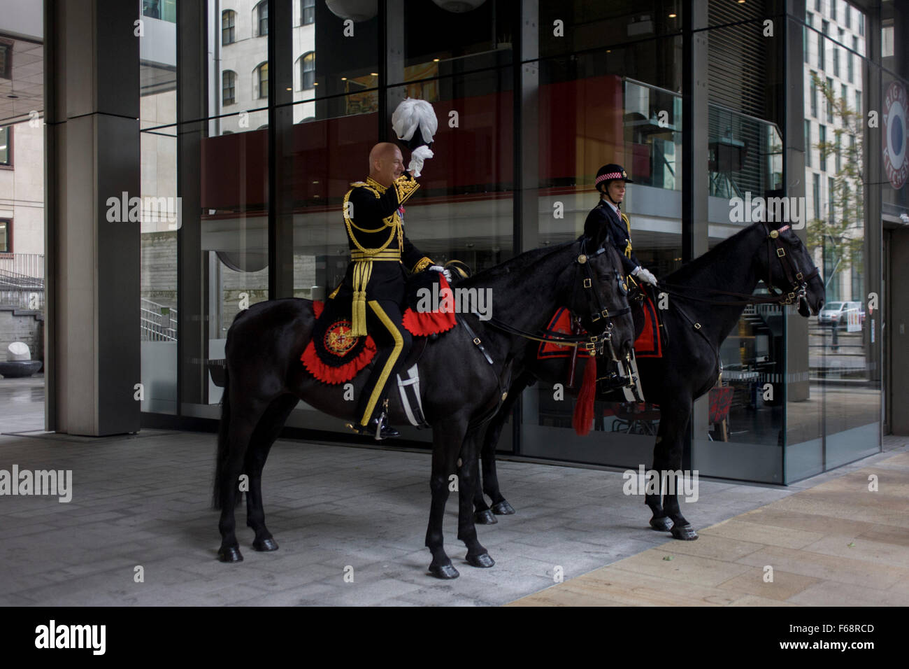 London, UK. 14th November, 2015. A senior police officer  before the Lord Mayor's Show in the City of London, - Stock Image