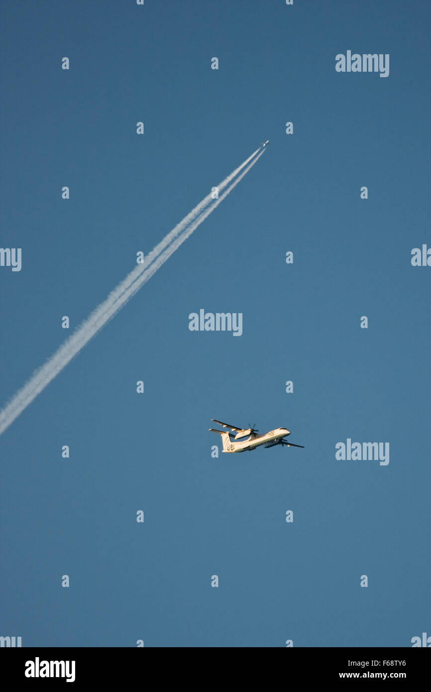 Busy skies - Stock Image