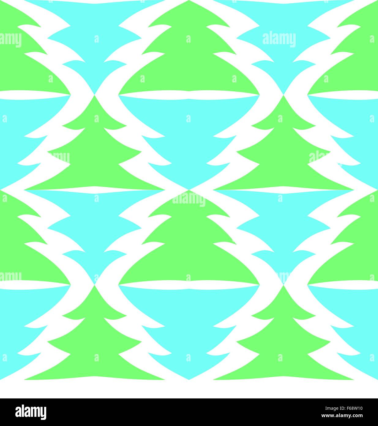 Seamless multicolored spruces isolated on white - Stock Vector