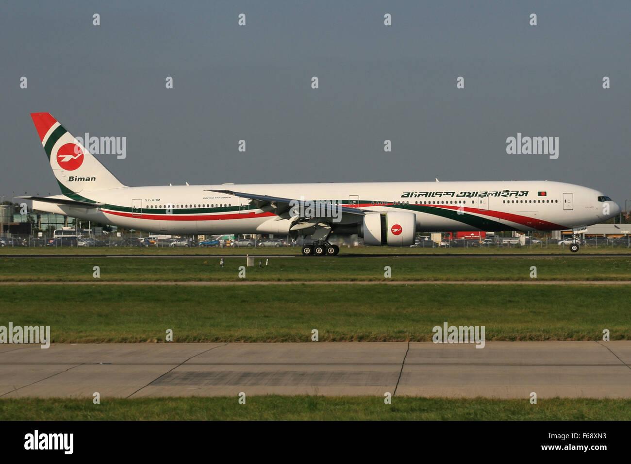 BANGLADESH BOEING 777 300 - Stock Image