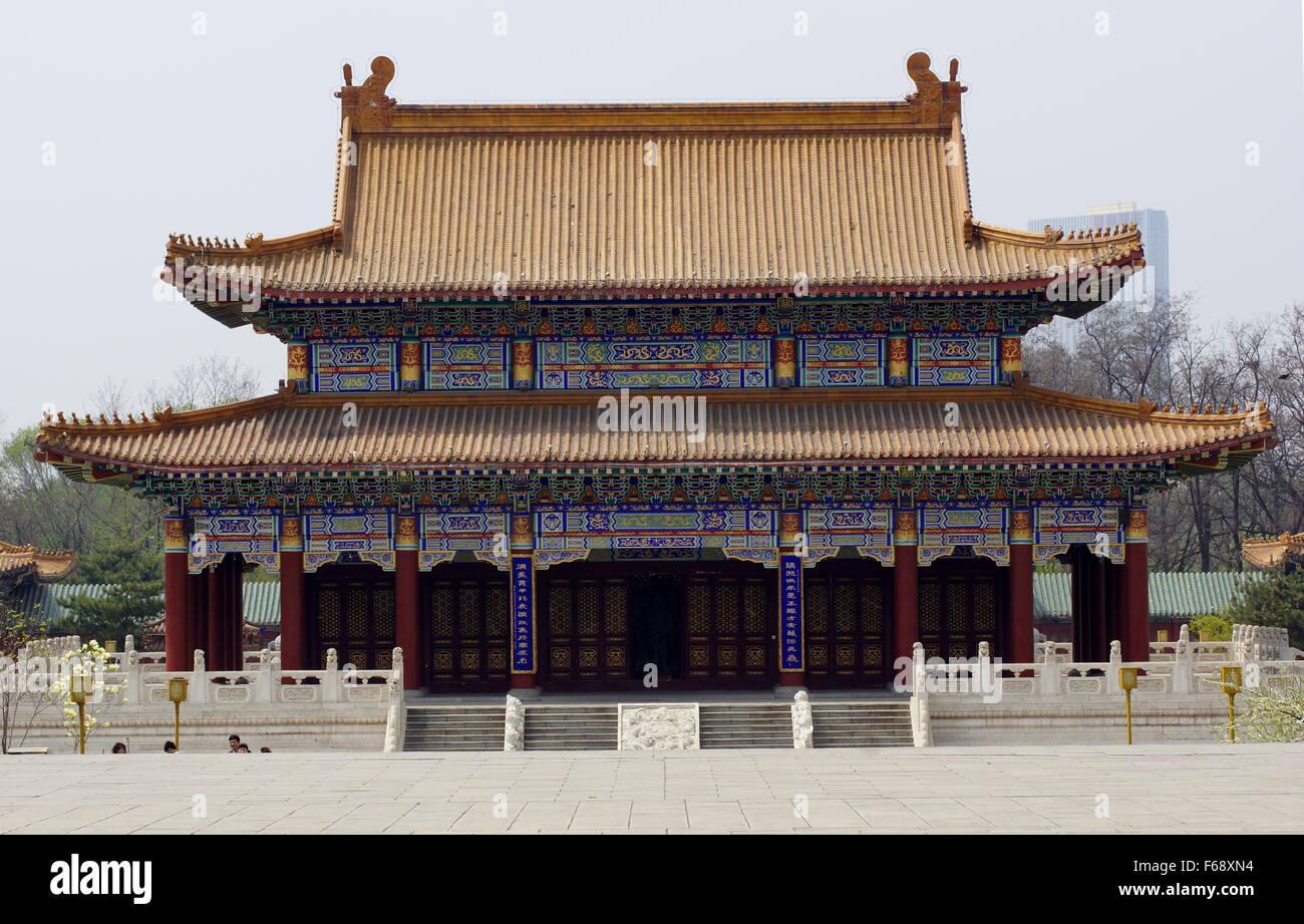 Jade Buddha Garden. Hall of celestial rulers. - Stock Image