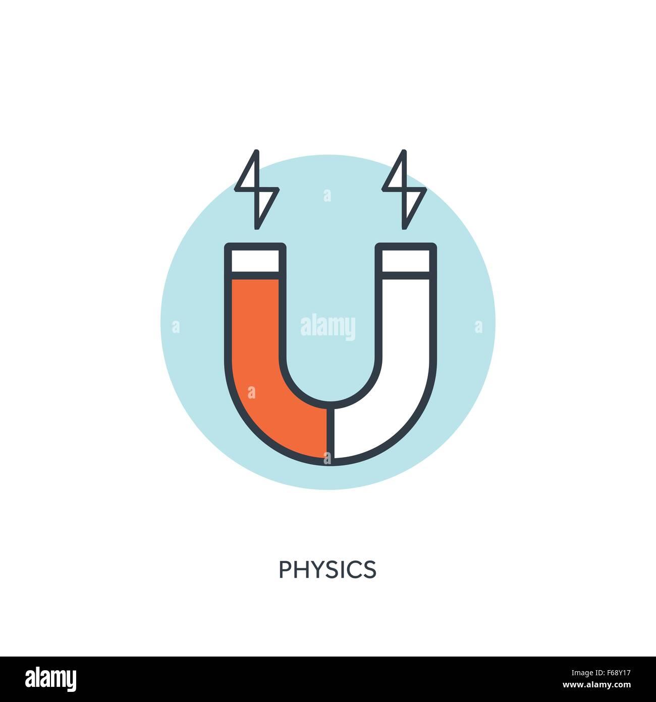 Vector illustration. Magnet Symbol. Electromagnetism symbol Stock ...