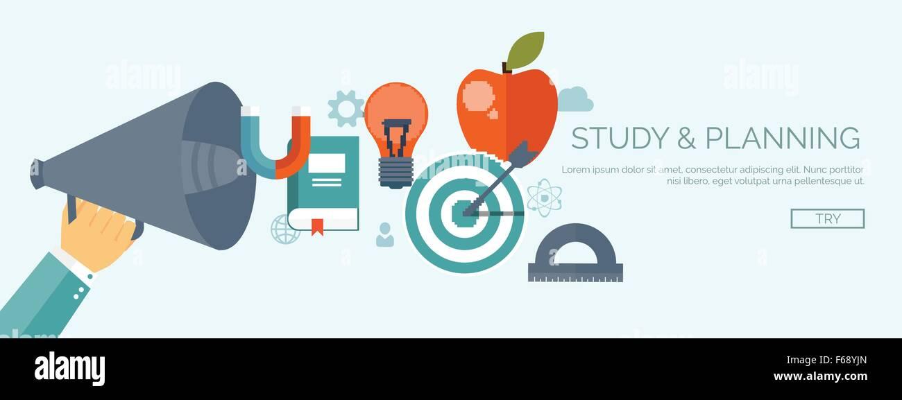 Vector illustration  Education management , online courses