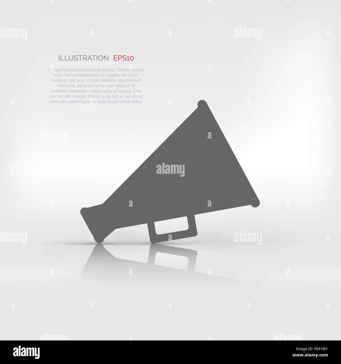 Megaphone, loudspeaker icon. Loud-hailer symbol Stock Vector Art ...