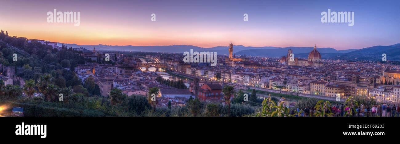 Florence perfect panorama - Stock Image