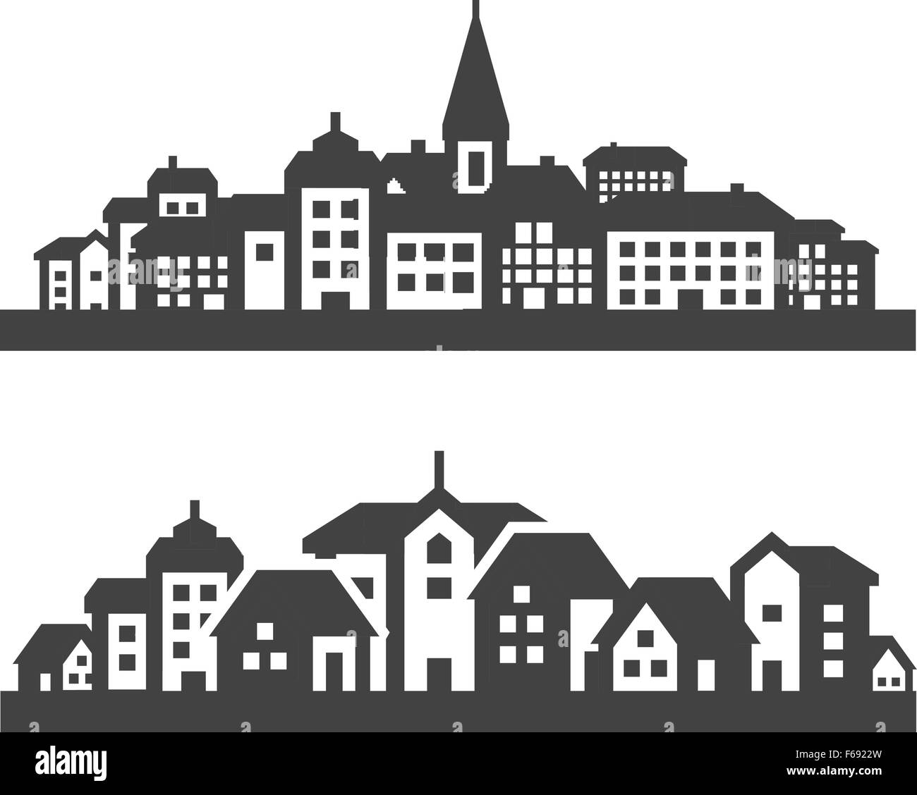 city icons set. signs and symbols - Stock Vector