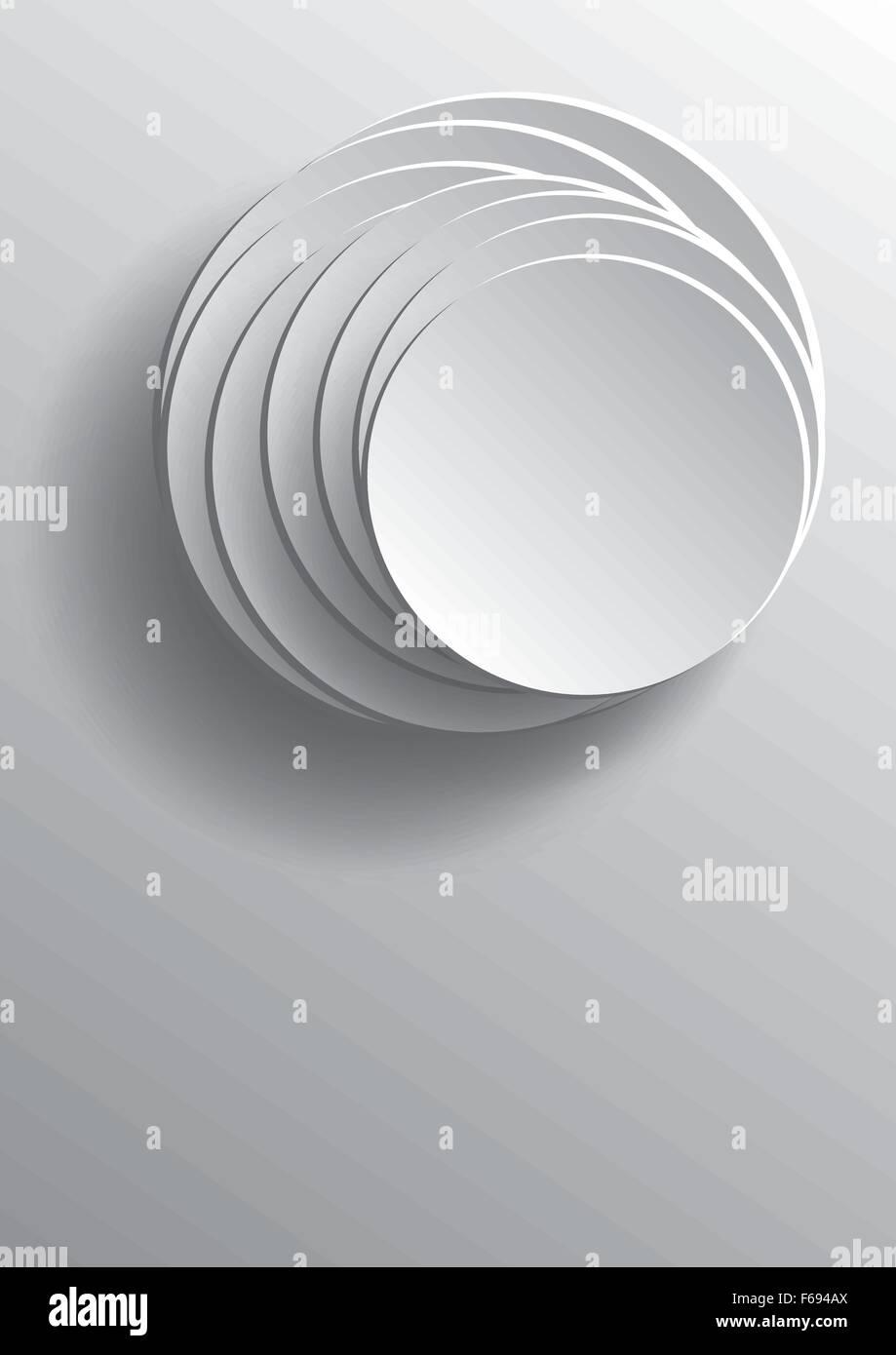 Abstract 3d Circles Paper Art Vector Graphic Design