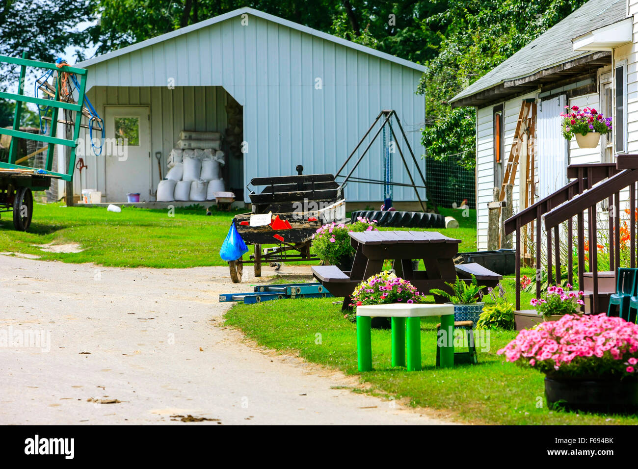 Amish farm in rural Wisconsin with the mod-cons of Civil War