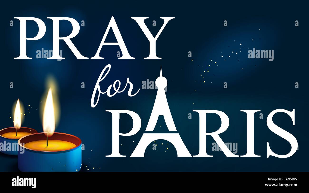 pray for paris abstract background silhouette of eiffel tower in