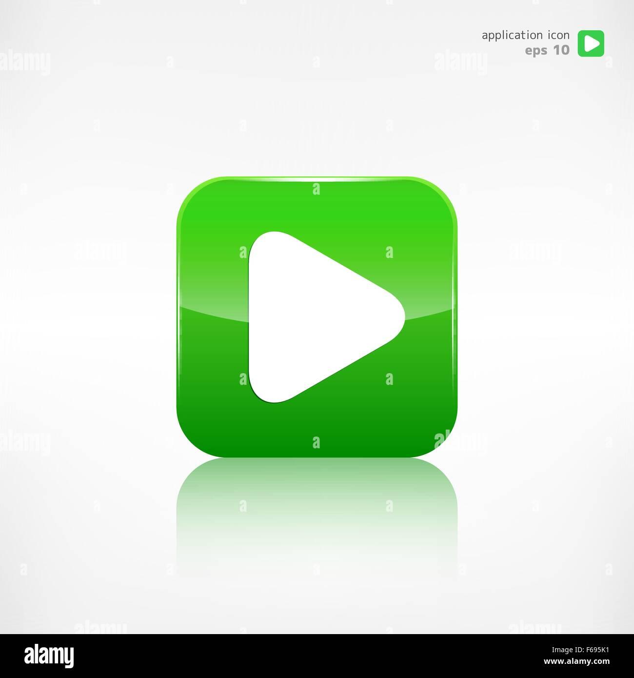 Play Icon Start Symbol Application Button Stock Vector Art