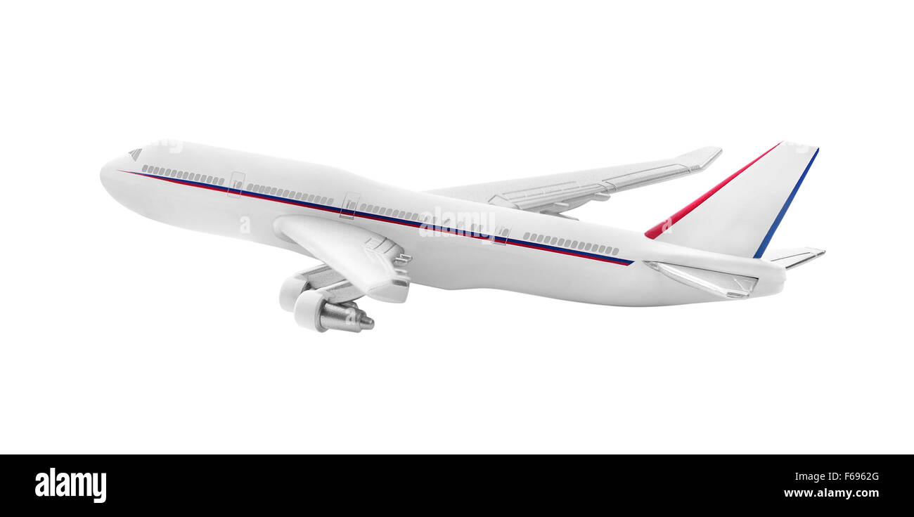 Airplane model isolated on a white background. - Stock Image