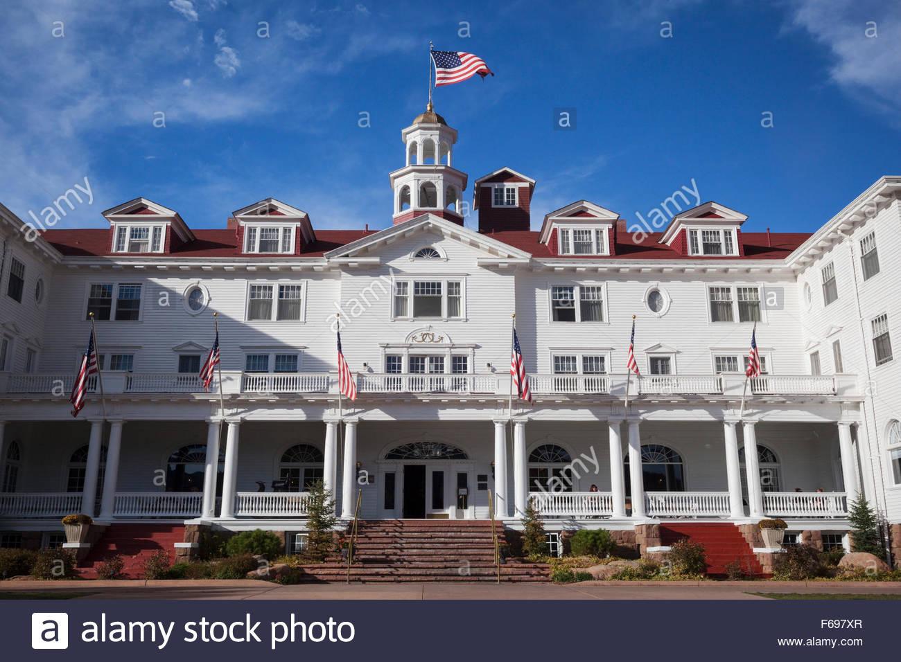 The Stanley Hotel, Estes Park, Colorado - Stock Image