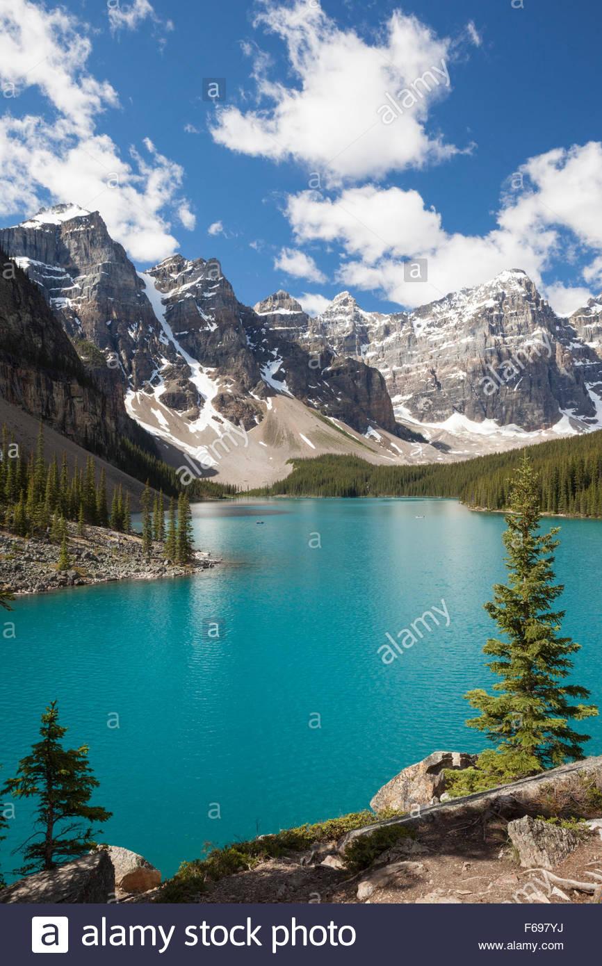 Moraine Lake In Summer Banff National Park Alberta Canada
