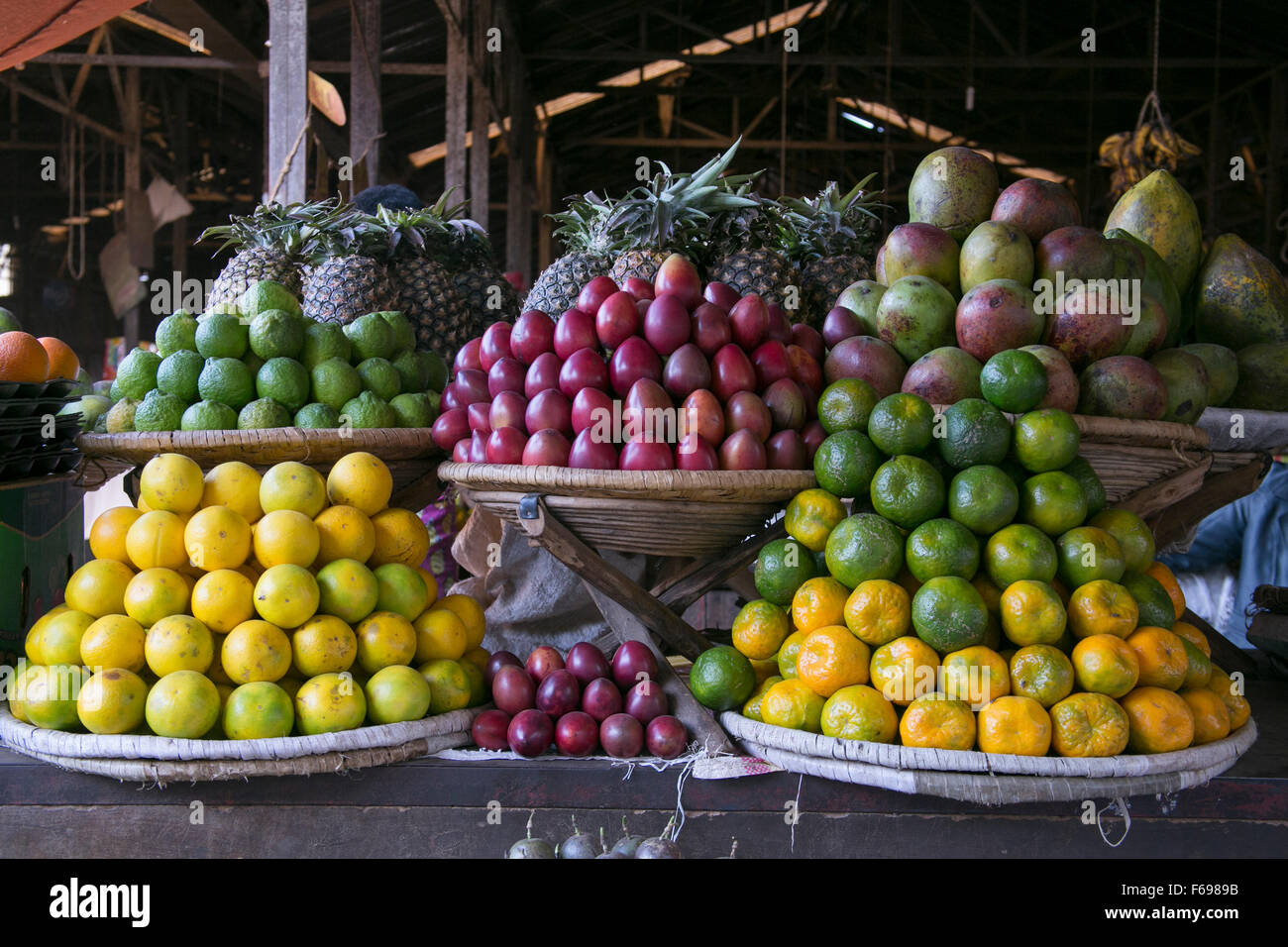 Produce market in Rwanda. - Stock Image