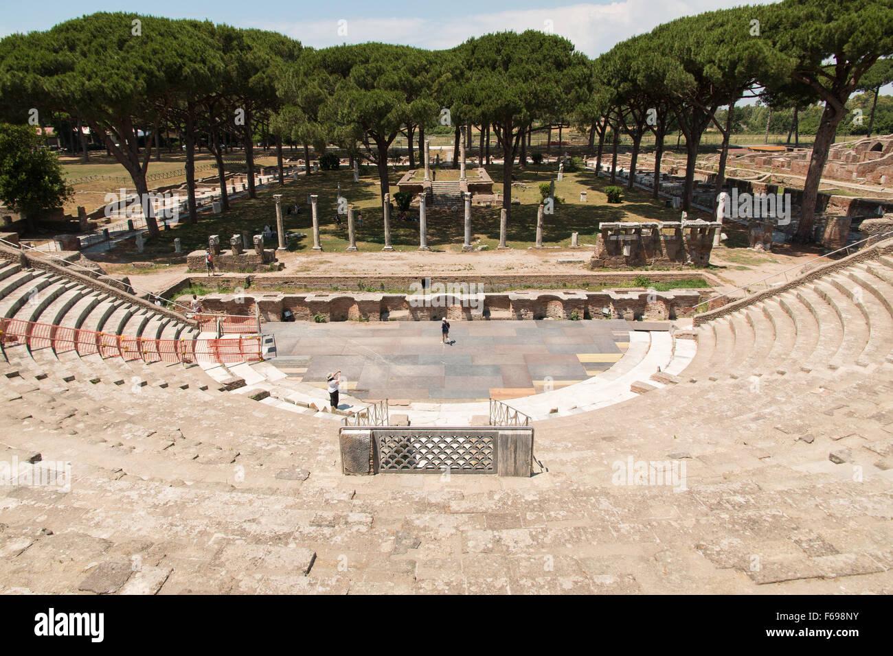 Ostia Antica, Rome, Italy - Stock Image