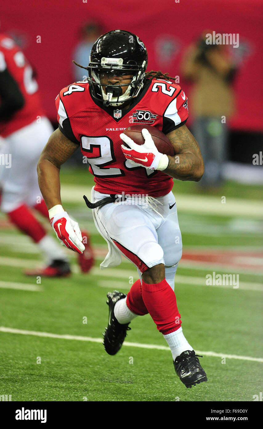 November 1, 2015: #24 Devonta Freeman of the Atlanta Falcons in action during NFL game between Houston Texans and Stock Photo