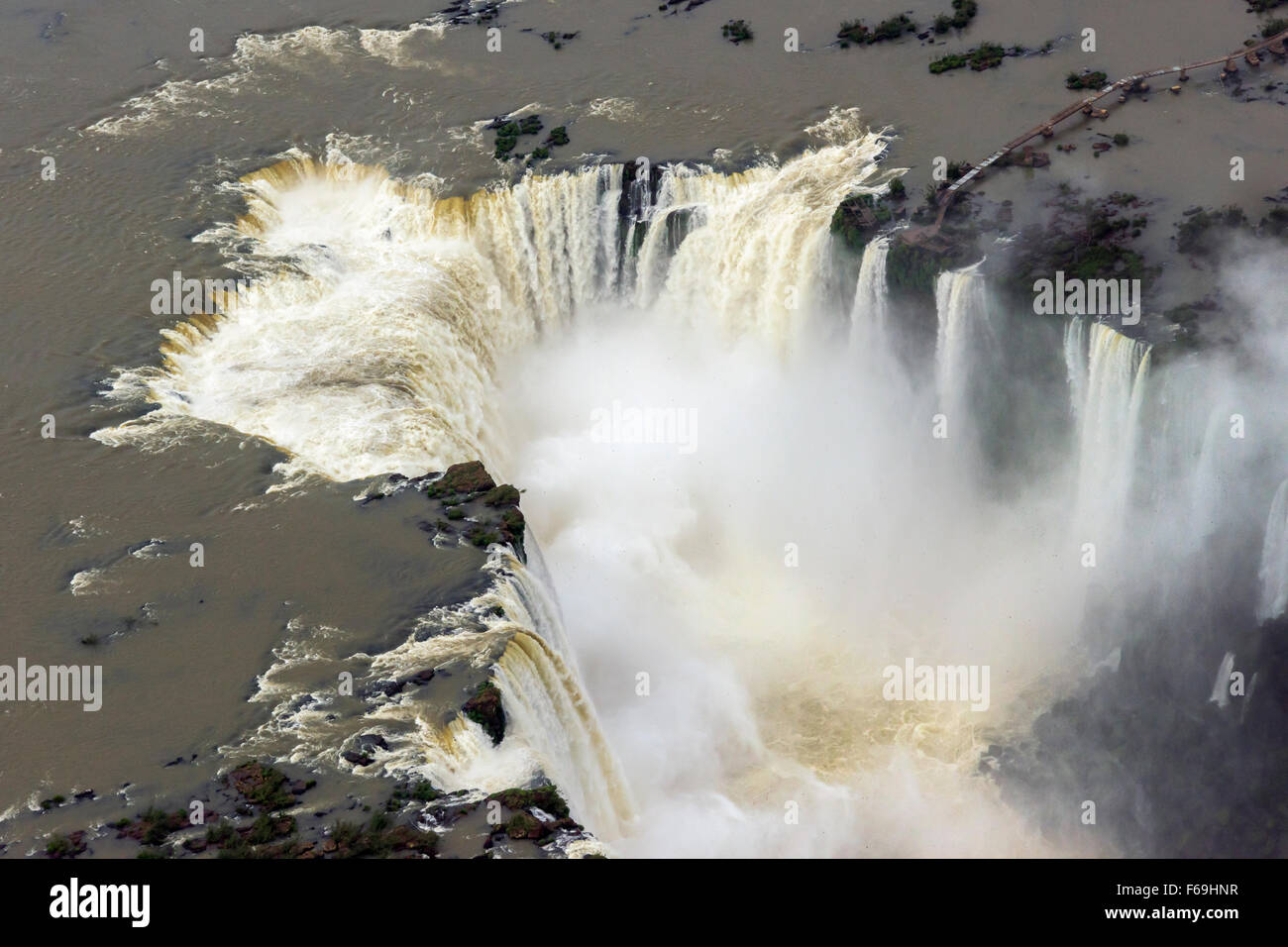 Looking down the Devil's Throat, Foz do Iguacu, Brazil Argentina border - Stock Image