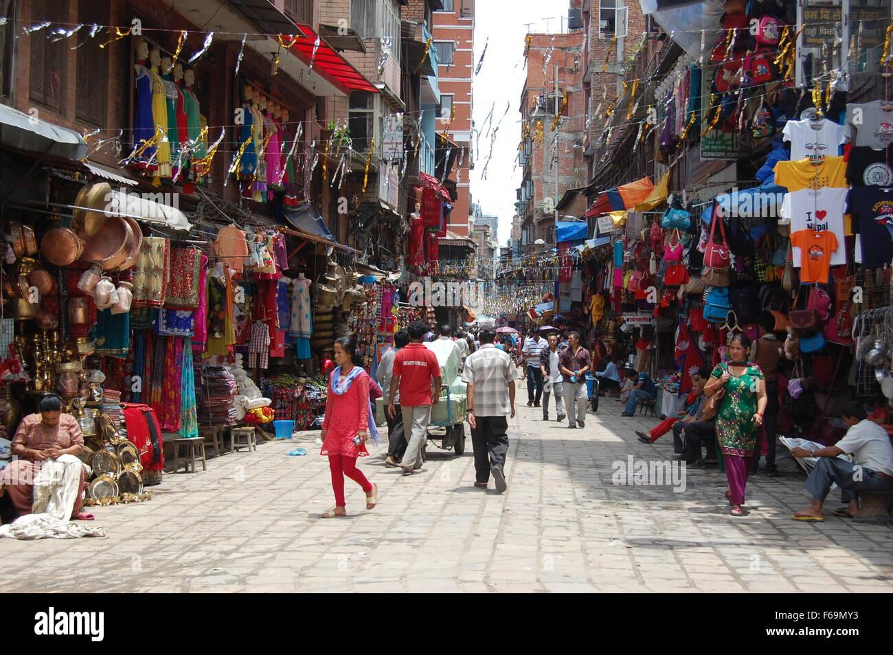 Kathmandu's colorful Streets - Stock Image