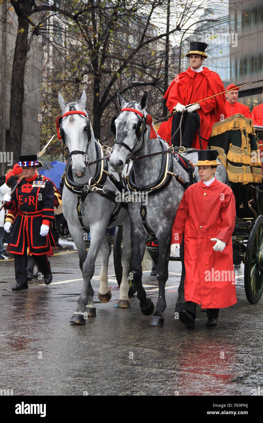 Horse and carriage at the Lord Mayor of the city of London show 2015 - Stock Image