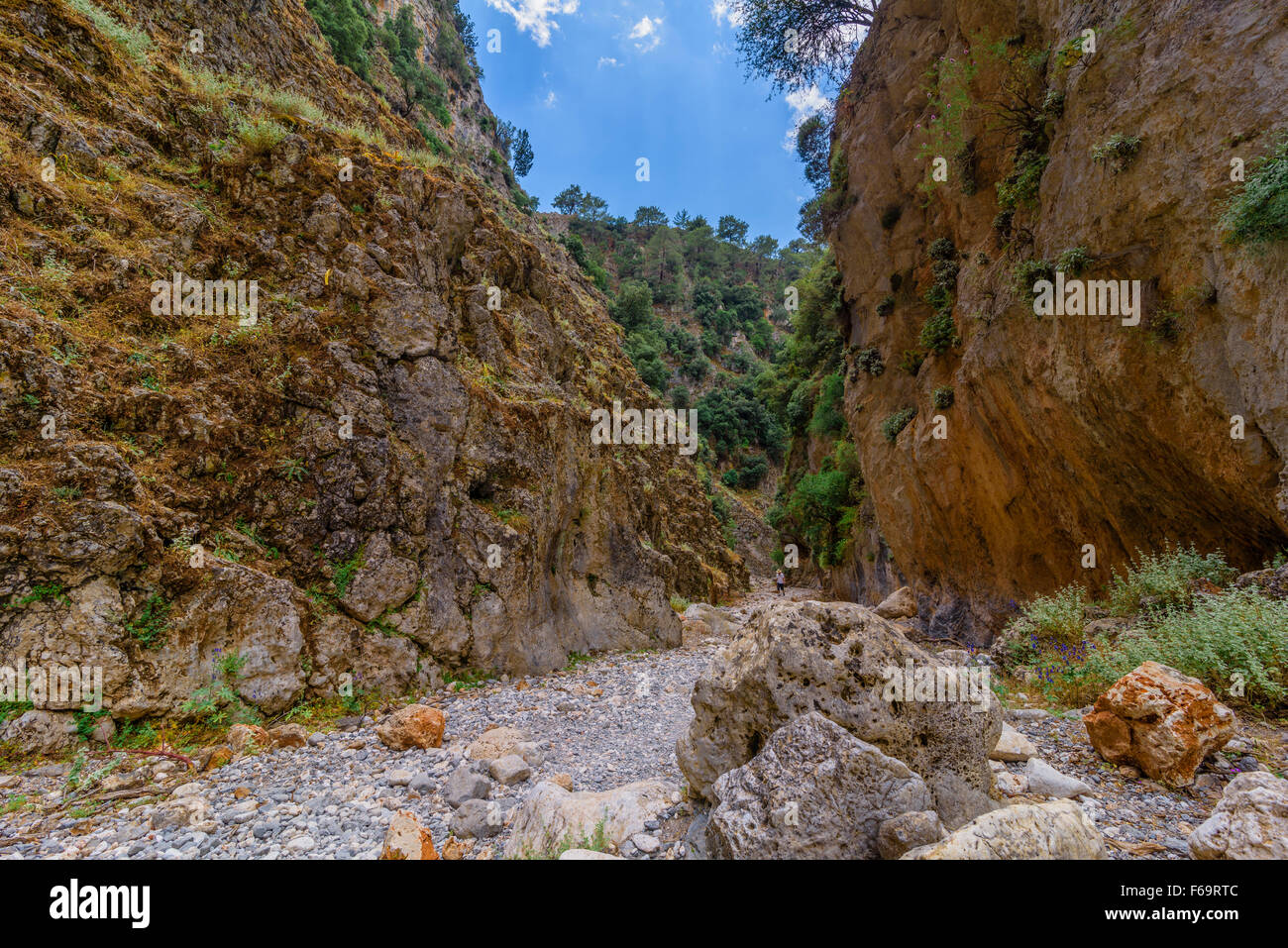 Aradena Schlucht Kreta, Aradena Gorge Crete Stock Photo