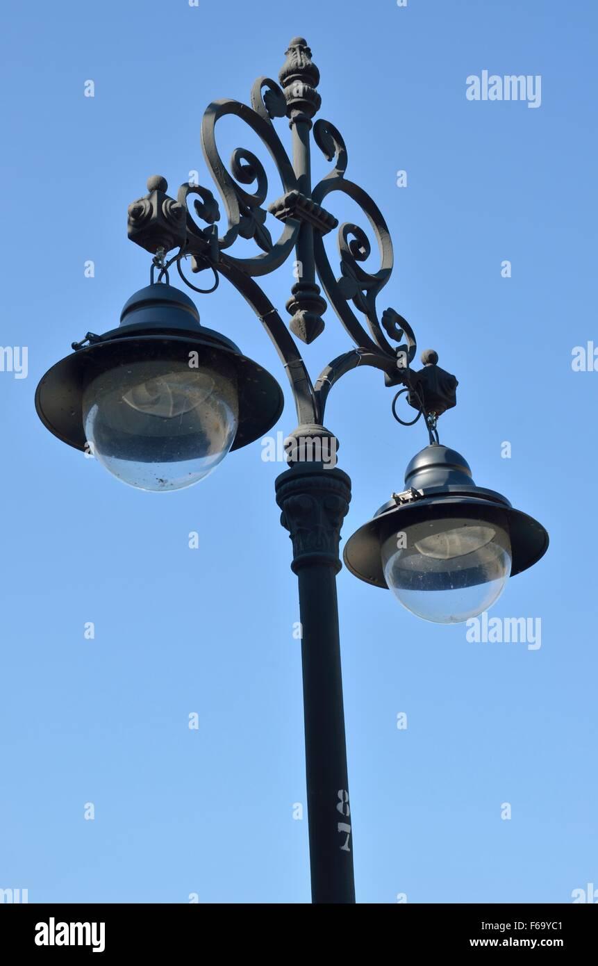 Iron lamp street in Seville, Spain - Stock Image
