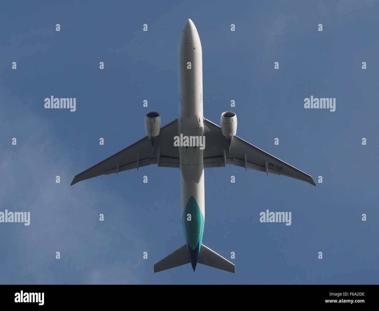 PK-GIE takeoff from Schiphol - Stock Image