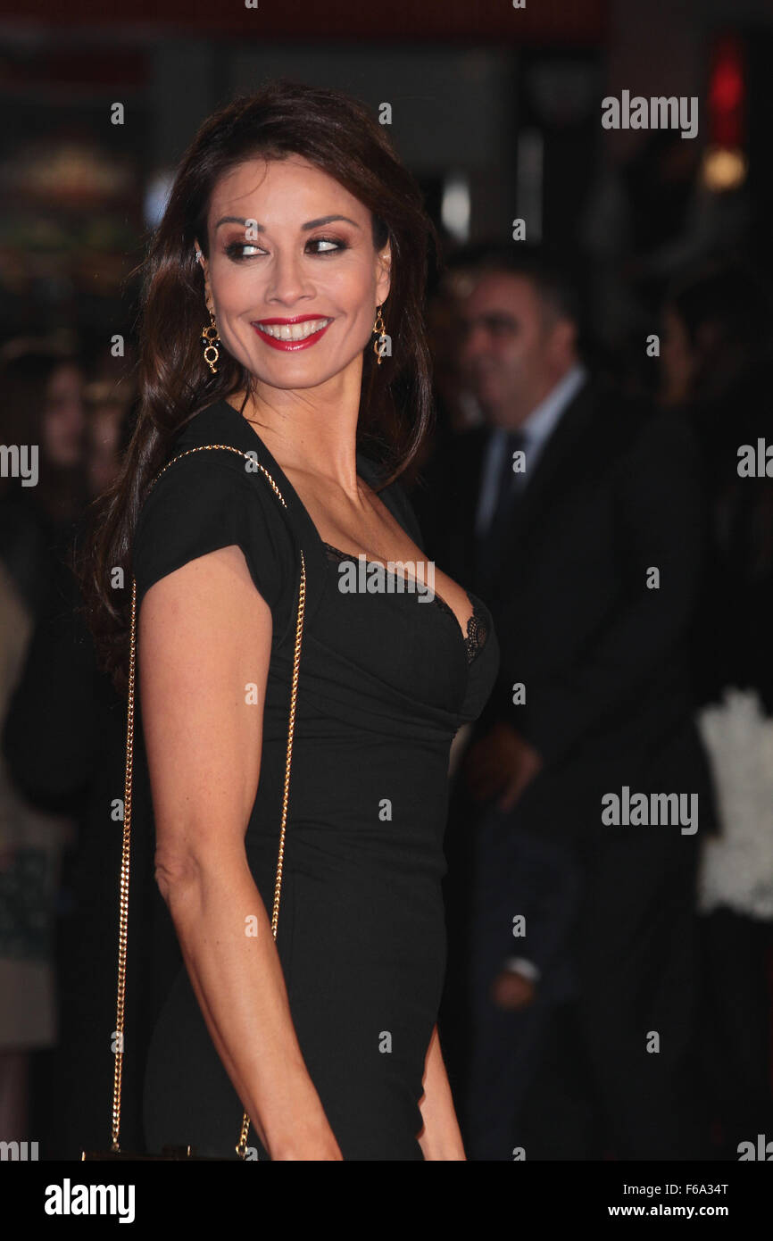 London, UK, 9th Nov 2015: Melanie Sykes attends Ronaldo world film premiere in London - Stock Image