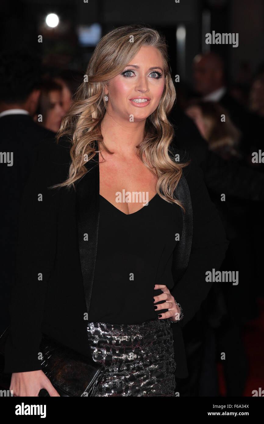London, UK, 9th Nov 2015: Hayley McQueen attends Ronaldo world film premiere in London - Stock Image