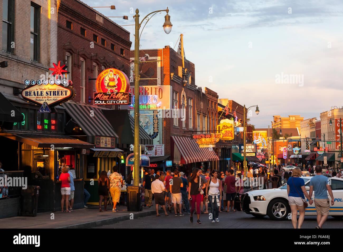 Beale Street, Memphis, Tennessee, USA - Stock Image