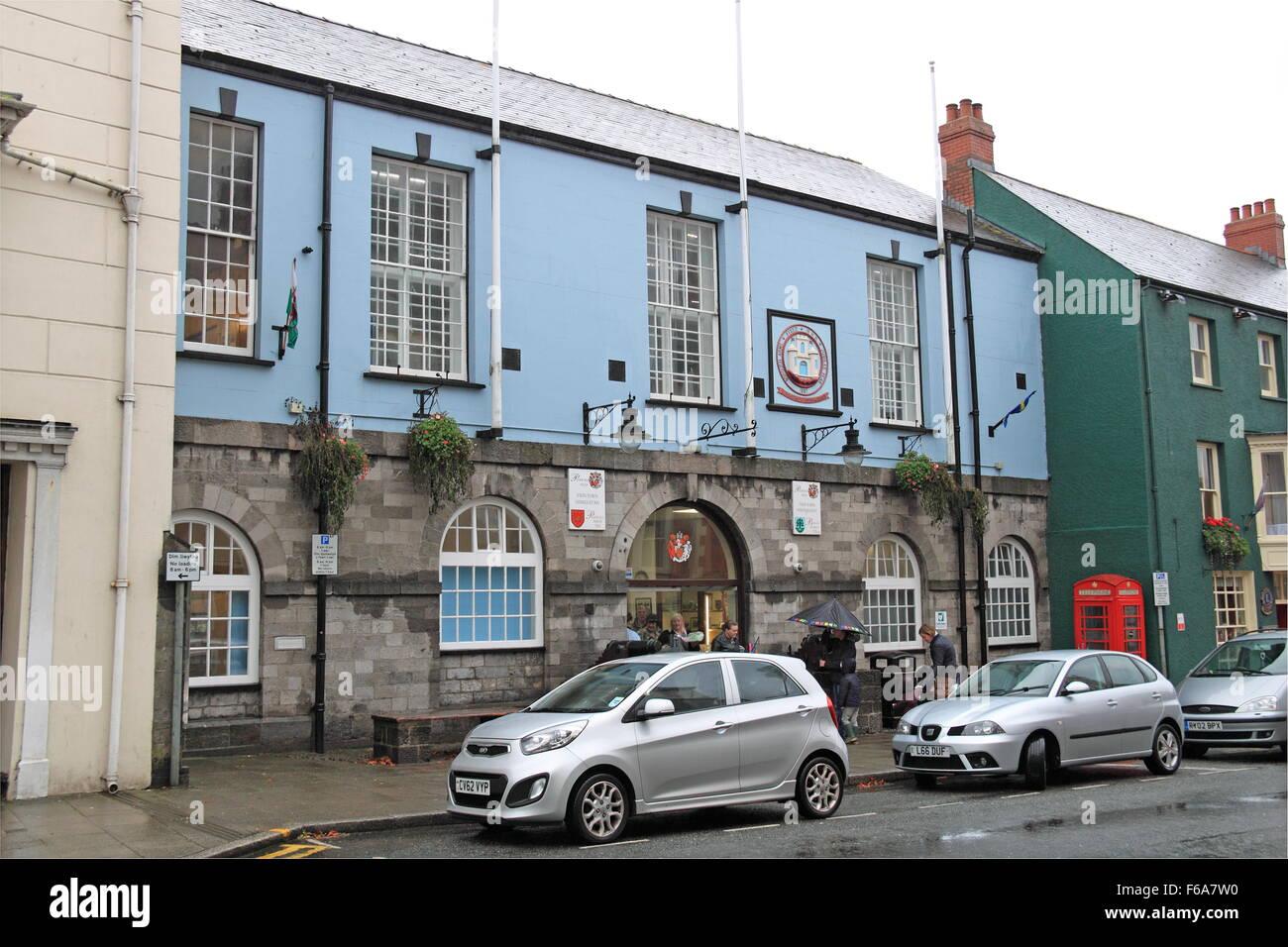 Town Hall, Main Street, Pembroke, Pembrokeshire, Dyfed, Wales, Great Britain, United Kingdom UK, Europe - Stock Image