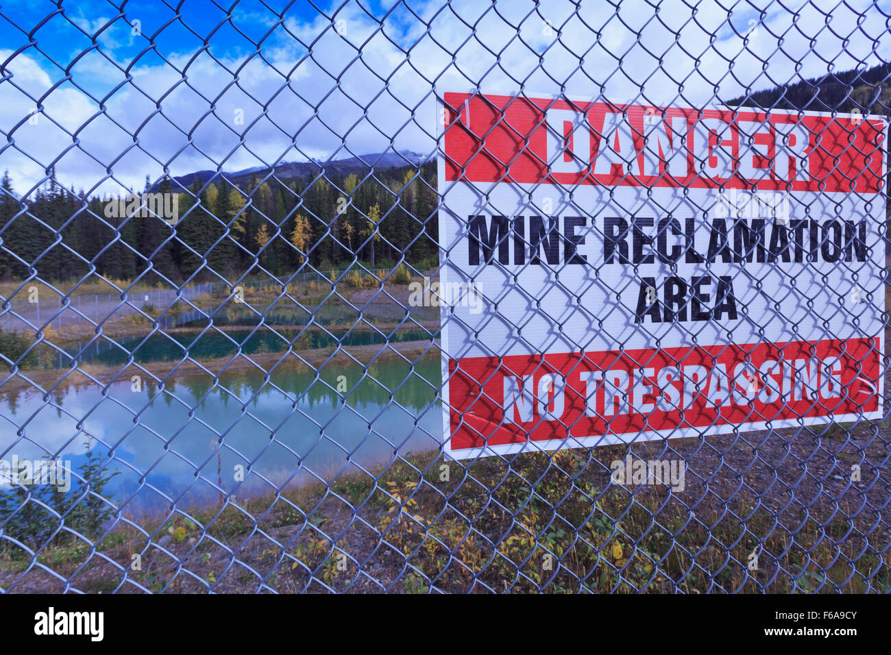 Duthie Mine reclamation site, near Smithers, British Columbia - Stock Image