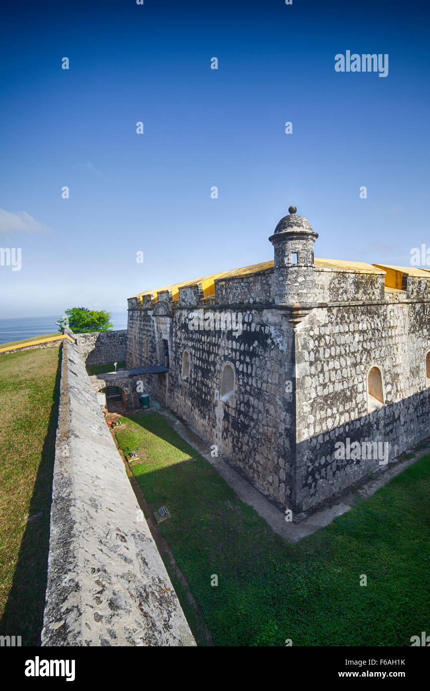 Turret on the Fuerte of San Jose in Campeche, Campeche, Mexico. Stock Photo