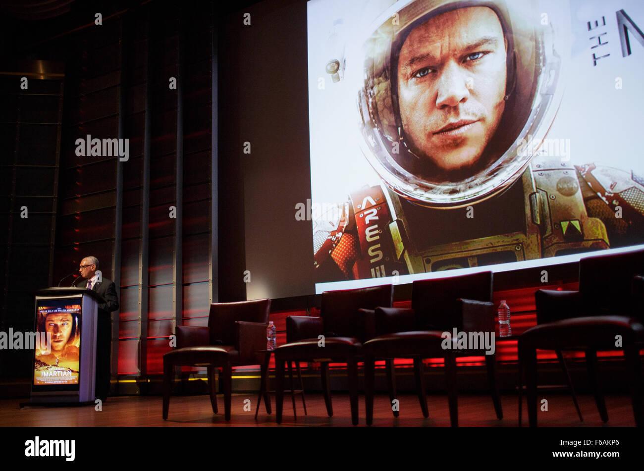 Screening of 'The Martian' - Stock Image