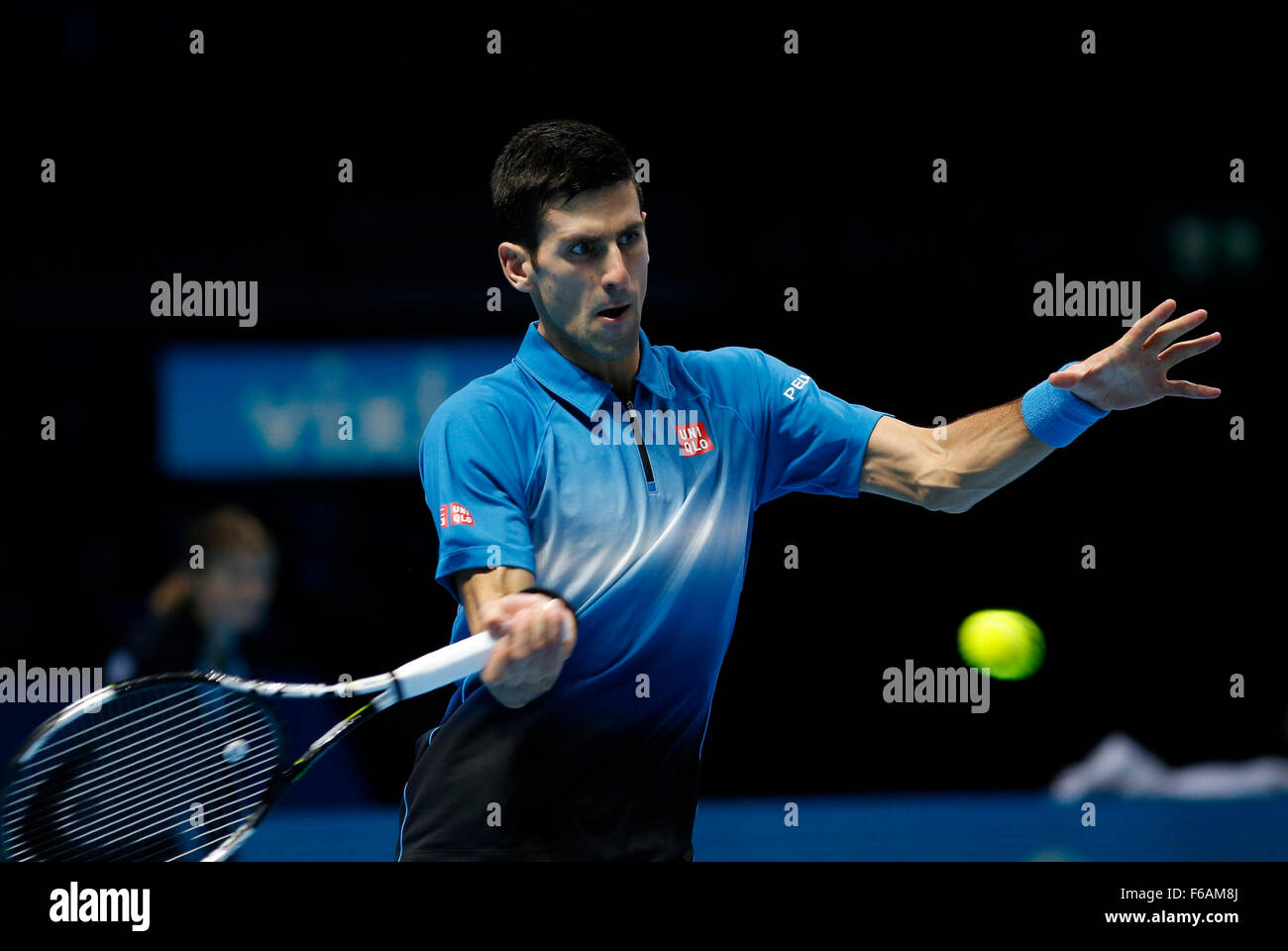 London Uk 15th November 2015 Atp Tennis Tour Finals Day 1 Novak