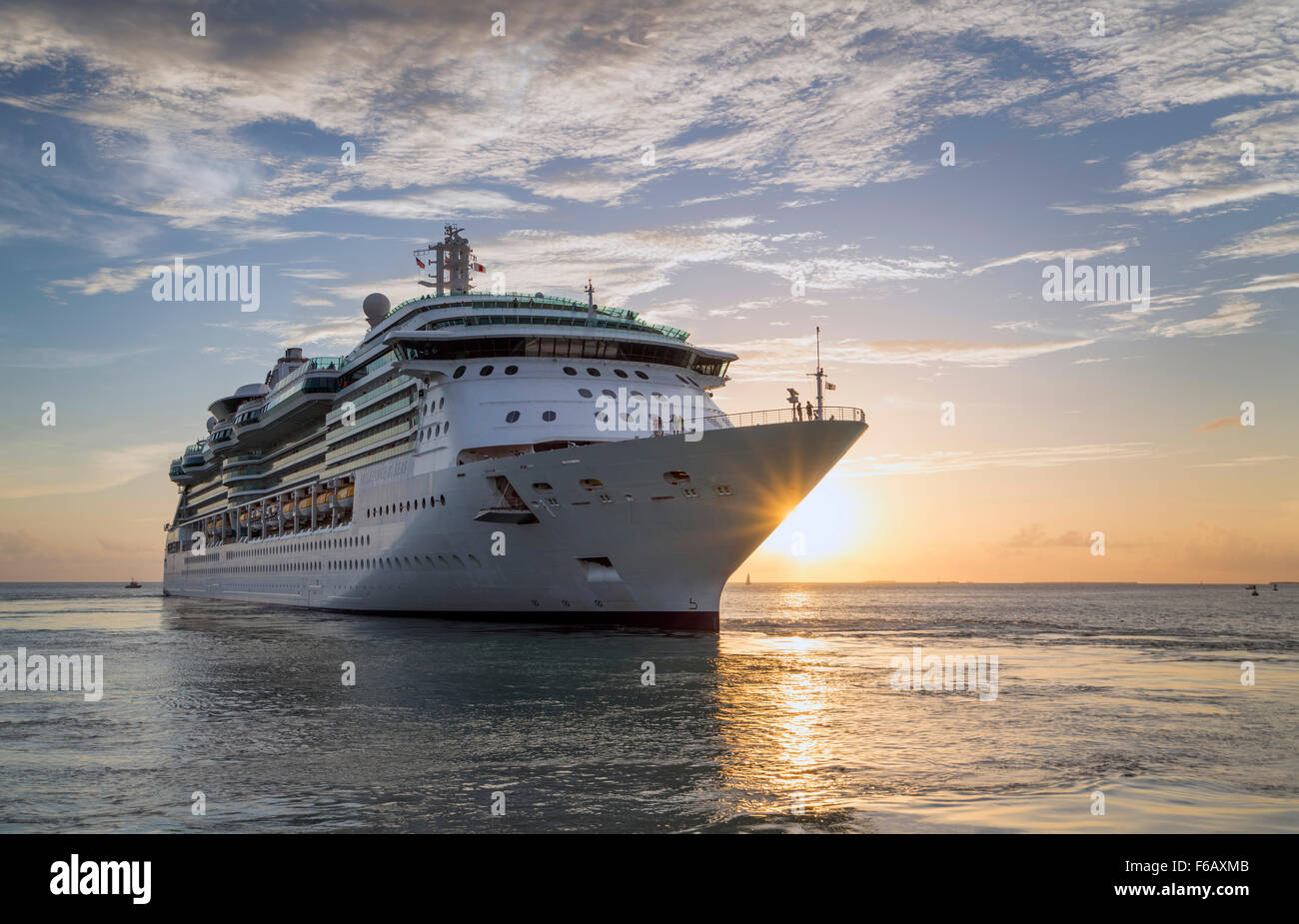 Brilliance of the Seas cruise liner at Key West - Stock Image