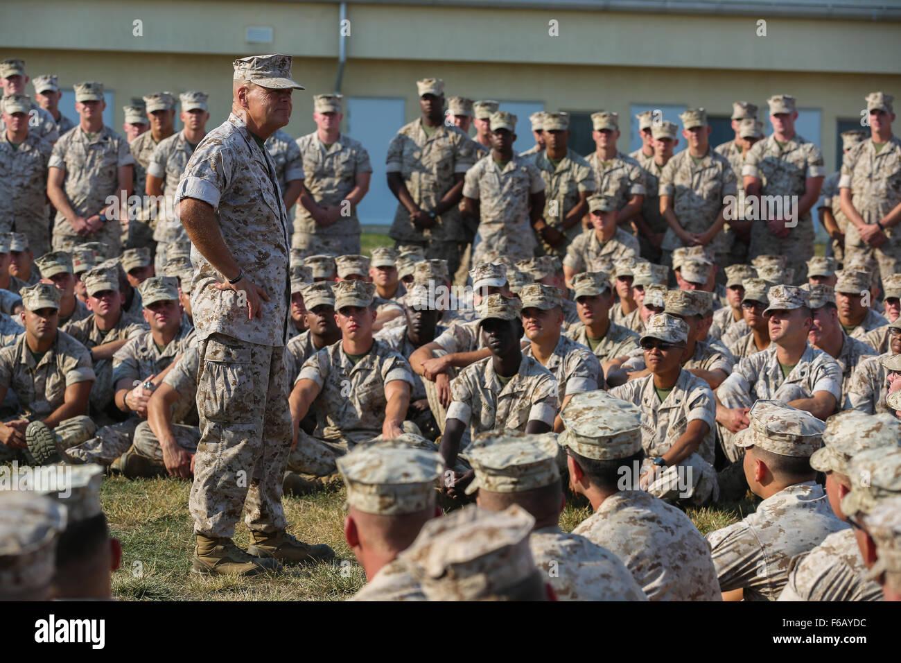 Lieutenant Gen. Robert B. Neller, commander of U.S. Marine Forces Command and U.S. Marine Forces Europe and confirmed Stock Photo