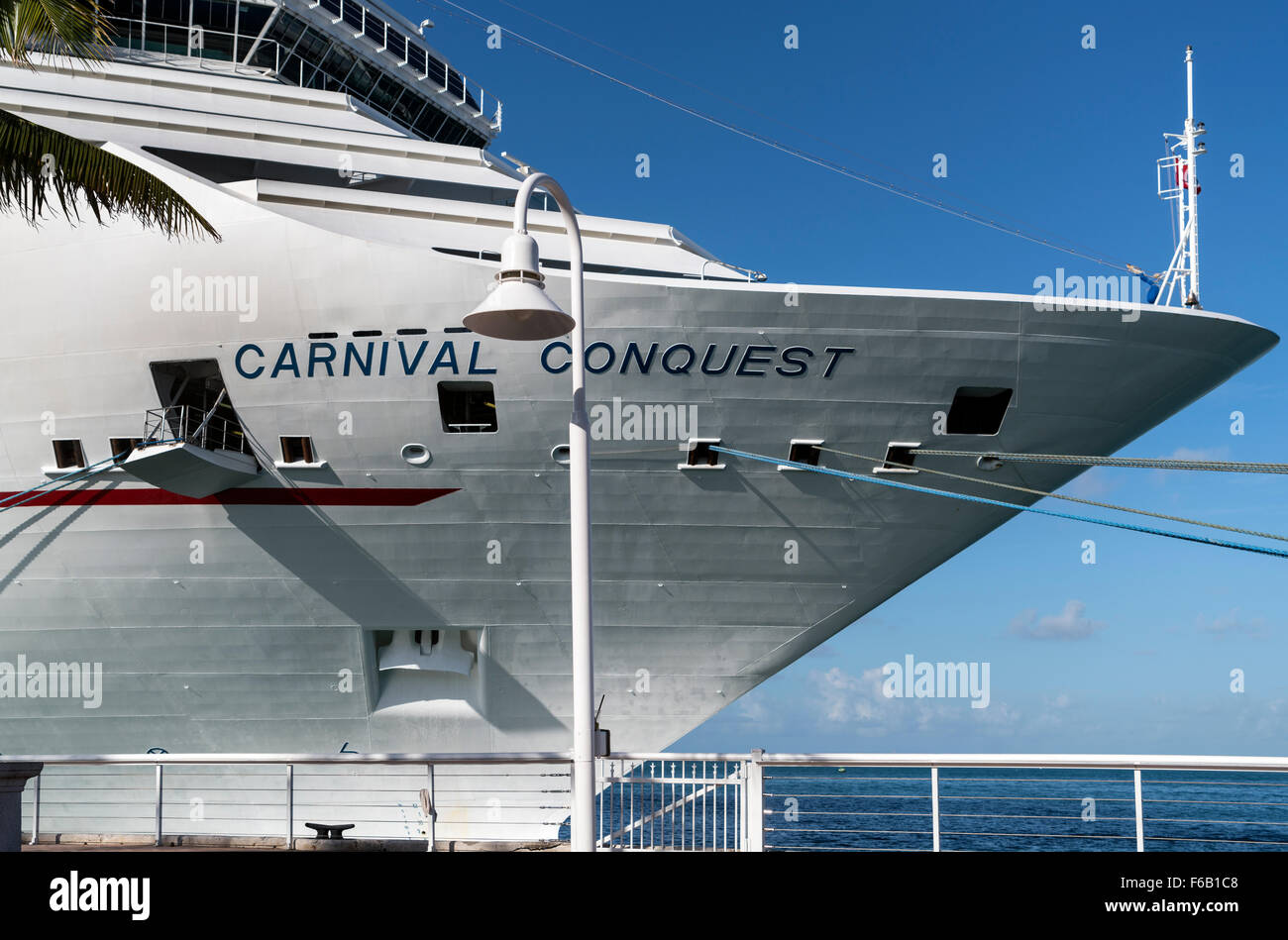 Carnival Conquest Cruise Liner berthed at Key West USA - Stock Image