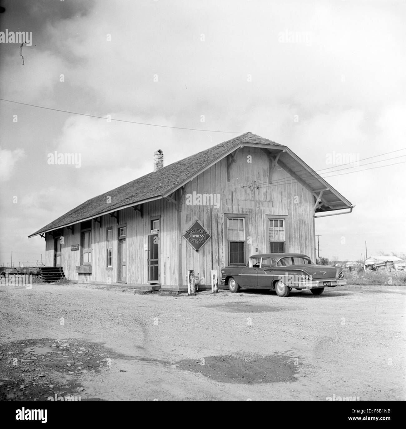[Texas and New Orleans, Southern Pacific Railroad Station, Aransas Pass, Texas] - Stock Image