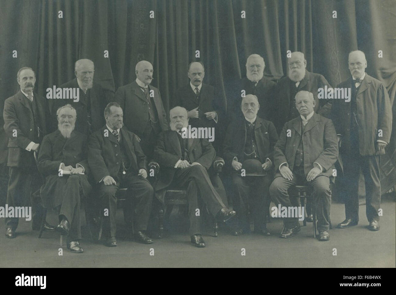 Officials who completed their jubilee at Elswick, 1910 - Stock Image